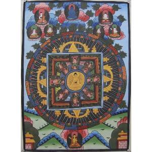 曼荼羅(古物)Mn62 釈迦如来・・・|himal