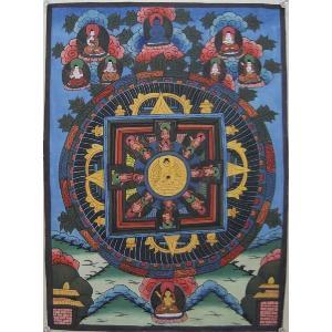 曼荼羅(古物)Mn63 釈迦如来|himal