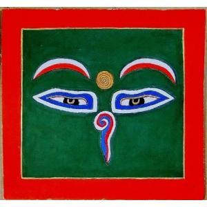 釈迦第三の眼曼荼羅 Mn6401 心眼 手描き 小|himal