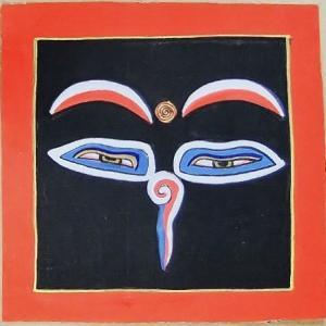 釈迦第三の眼曼荼羅 Mn6403 心眼 手描き 小|himal