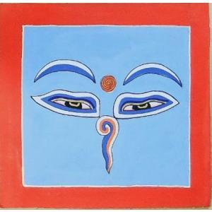 釈迦第三の眼曼荼羅 Mn6405 心眼 手描き 小|himal