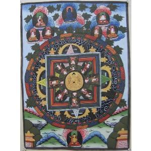 曼荼羅(古物)Mn65 釈迦如来|himal