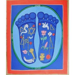 釈迦の足の裏曼荼羅 Mn7901 大 手描き|himal