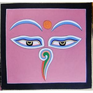 釈迦第三の眼曼荼羅 Mn8501 心眼 手描き 大|himal