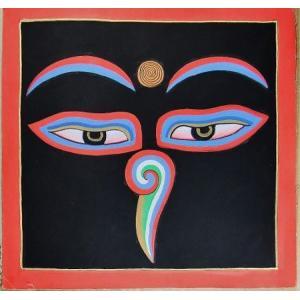 釈迦第三の眼曼荼羅 Mn8601 心眼 手描き 大|himal