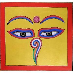 釈迦第三の眼曼荼羅 Mn8701 心眼 手描き 大|himal