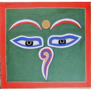 釈迦第三の眼曼荼羅 Mn8801 心眼 手描き 大|himal