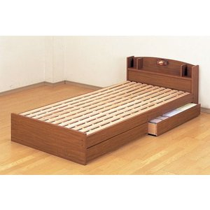 日本製宮 ライト付ロングタイプすのこベッド シングル   長さ218cm ベット|himalaya2