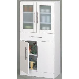 キッチン食器棚White/ミドルタイプ/W60×H120|himalaya2