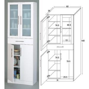 キッチン食器棚White/ハイタイプ/W60×H180|himalaya2
