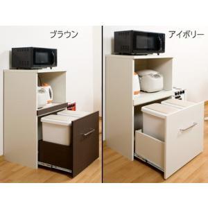 ゴミ箱付レンジ台分別ダストボックス日本製|himalaya2