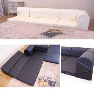 低反発ウレタン仕様合成皮革レザーコーナーソファー  組合自在テレビ枕対応日本製|himalaya2