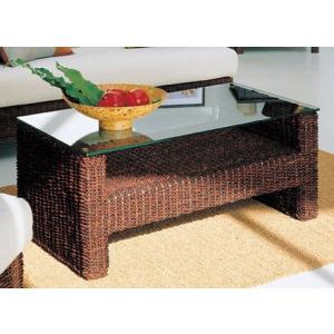 天然素材フレームとガラスのテーブル|himalaya