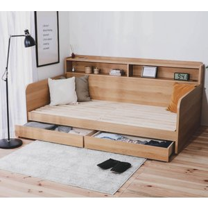 木製ソファベッドすのこシングルデイベッド新発想の収納大容量ソファベッド日本製|himalaya