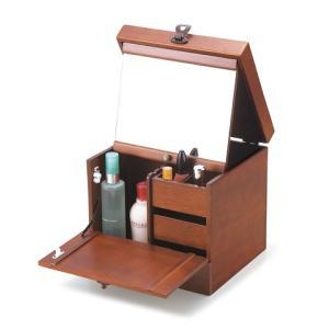 クラシックブラウン コスメティックボックス240小物収納B|himalaya