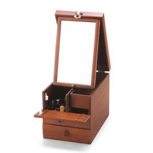 クラシックブラウン コスメティックボックス200小物収納B|himalaya