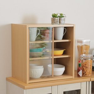 コンパクト食器棚カップボード|himalaya