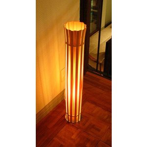 FlamesCROWN(王冠) 白木スライスフロアスタンドLインテリア照明|himalaya