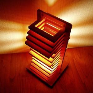 FlamesHIKIDASHI(引き出し) 木製可動卓上スタンドインテリア照明|himalaya