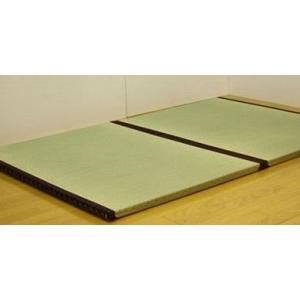 日本製新素材たたみベッドダブル受注生産::ポリプロピレン樹脂畳使用:送料無料  ベッド ベット民芸和家具|himalaya