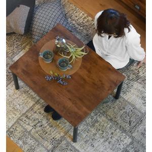 一人用リビングコタツテーブル幅75×奥行60×高さ37/42cm himalaya