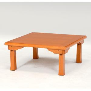 折れ脚座卓ローテーブル折りたたみ式75x75cm|himalaya