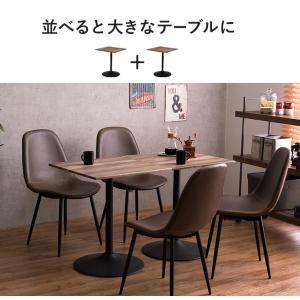ぴったり並べて使えるカフェダイニングテーブル2点セット 60cmx2台=120cm幅 himalaya