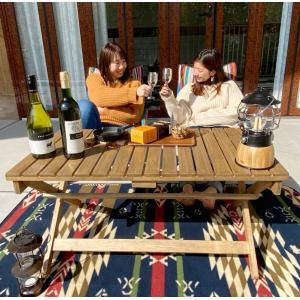 折りたたみ式アウトドアテーブル ガーデンテーブル バルコニーベランダローテーブル|himalaya