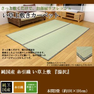 純国産 糸引織 い草上敷 『湯沢』 本間2畳(約191×191cm)|himalaya