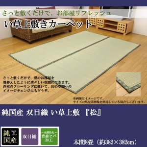 純国産 双目織 い草上敷 『松』 本間8畳(約382×382cm)|himalaya