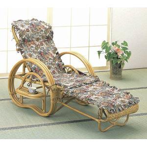 籐ラタン デラックスカバー付三ツ折寝椅子 himalaya