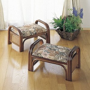 籐ラタン らくらく座椅子 2個組ロータイプ|himalaya