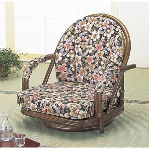 籐ラタン 回転座椅子さくら ロータイプ|himalaya
