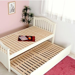 ◆使わない時は大容量の収納にもなる賢いベッドです<br><br>【上段外寸】...