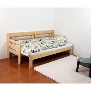 木製ソファベッドマットレス付き himalaya