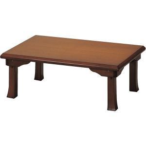 和風折脚座卓ブラウン900x600|himalaya