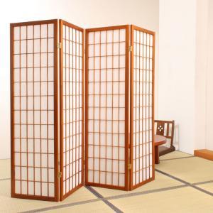 4連 折りたたみ パーティション パーテーション 木製 高さ150cm 幅45cm x 4枚 ウイルス対策 民芸和家具 kkkez|himalaya