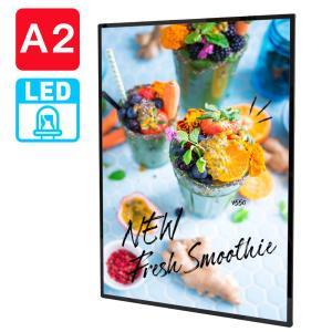 卓上 壁掛けLED発光A2対応バックライトポスターパネルウェルカムボードお店のメニュー看板に kkkez|himalaya