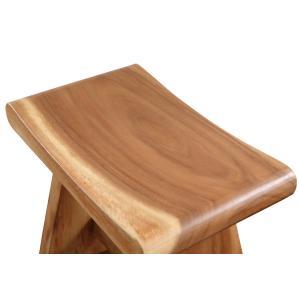 天然木モンキーポッド無垢材仕様スツール椅子|himalaya