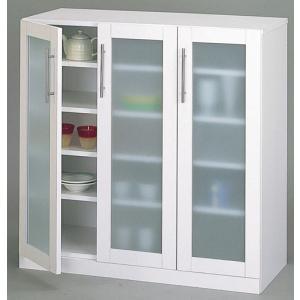 キッチン食器棚White/ロータイプ|himalaya