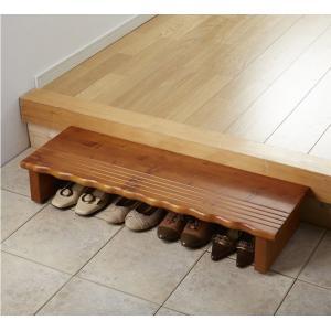 玄関台 玄関踏み台90cm 民芸調 民芸和家具|himalaya