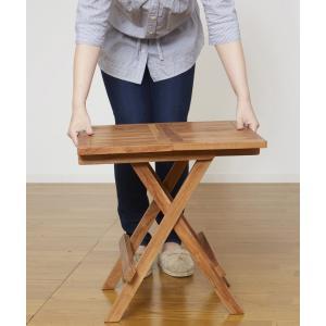 世界三大銘木の天然木チーク材使用折りたたみテーブル|himalaya