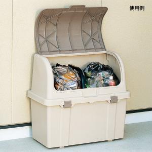 業務用フタ付き大型分別ダストボックス ゴミ箱 ごみ箱 45Lポリ袋4個入る大容量タイプ 仕切り付き kkkez|himalaya
