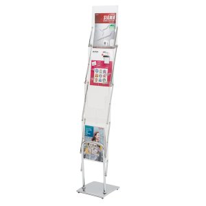折りたたみ式 持ち運び可能 収納バッグ付属 カタログスタンド 雑誌スタンド パンフレットラック kkkez|himalaya
