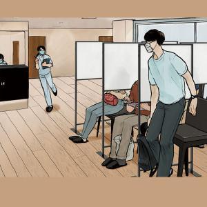 アクリル板 フロスト仕様 パーテーション パーティション 着席間仕切り ウイルス対策 kkkez|himalaya