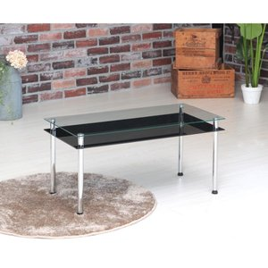 3WAYガラステーブル幅80/机/テーブル/リビングテーブル/収納付/棚付/高級感/モダン/おしゃれ|himalaya