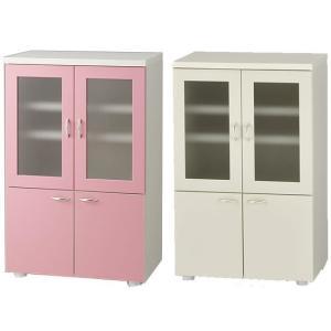食器棚完成品日本製ピンクとアイボリーから選択|himalaya