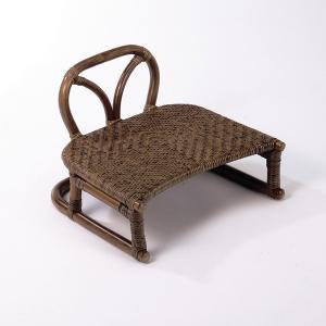 和ラタン背つき正座椅子 籐 アジアン|himalaya