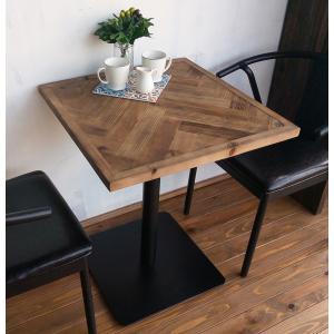 モミ古材カフェテーブルヘリンボーン柄ブルックリンヴィンテージスタイル kkkez|himalaya