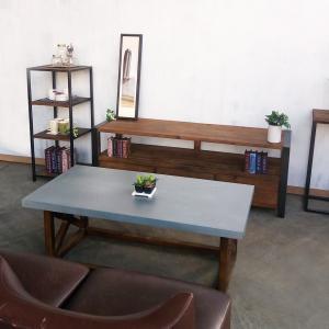 モミ古材コーヒーテーブルブルックリンインダストリアルヴィンテージスタイルジンクトップ亜鉛天板120x60|himalaya